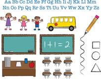 postacie szkoła kij ilustracji