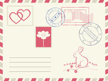 Postage and decoration elements. Stock Image