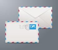 Postage envelopes royalty free illustration