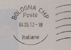 Postage meter from Bologna (Italy) Stock Photos