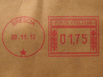 Postage meter from Brescia (Italy) Royalty Free Stock Photography