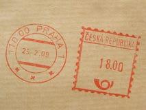 Postage meter from Prague stock photo