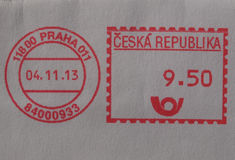 Postage meter from Prague Stock Images