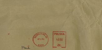 Postage meter from Warsaw Royalty Free Stock Photo