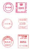 Postage meters Royalty Free Stock Photo