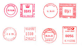 Postage meters Stock Images