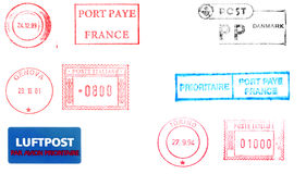 Postage meters, rubber stamps Stock Photography