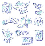 Postage set Stock Images