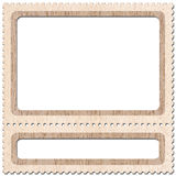 Postage-stamp 1. Frame look like postage-stamp with spaces for picture and text Stock Photography