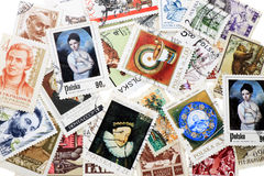 Postage stamp. Big collection Poland's and USSR's postage stamp Stock Photo