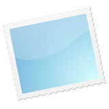 Postage stamp. Blank postage stamp with shadow and blue gradient Royalty Free Stock Photos