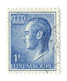 Postage stamp. LUXEMBOURG - CIRCA 1965: An LUXEMBOURG Used Postage Stamp showing Portrait of Grand Duke Jean, circa 1965 Royalty Free Stock Image