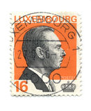 Postage stamp. LUXEMBOURG - CIRCA 1995: An LUXEMBOURG Used Postage Stamp showing Portrait of Grand Duke Jean, circa 1995 royalty free stock photos