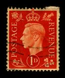Postage stamp. UNITED KINGDOM - CIRCA 1937: A stamp printed in UNITED KINGDOM shows image portrait George VI (Albert Frederick Arthur George; 14 December 1895 Stock Photos