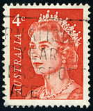 Postage stamp. AUSTRALIA-CIRCA 1966:A stamp printed in AUSTRALIA shows image of Elizabeth II (Elizabeth Alexandra Mary, born 21 April 1926) is the royalty free illustration