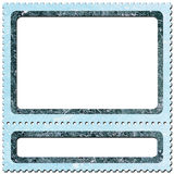 Postage-stamp 3. Frame look like postage-stamp with spaces for picture and text Royalty Free Stock Photography