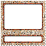 Postage-stamp 4. Frame look like postage-stamp with spaces for picture and text Stock Photos