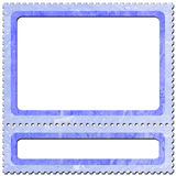 Postage-stamp 5. Frame look like postage-stamp with spaces for picture and text Stock Images