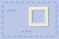 Postage stamp. Rectangular frame, in the form of a postage stamp, without the image. isolated. vector illustration Royalty Free Stock Photo