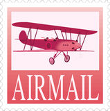 Postage stamp airmail Stock Image