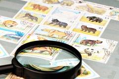 Postage stamp album Stock Image