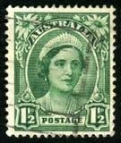 Postage stamp. AUSTRALIA - CIRCA 1937: stamp printed by Australia, shows Queen Elizabeth II, circa 1937 Stock Image