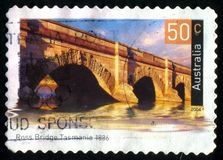 Postage stamp. AUSTRALIA - CIRCA 2004: stamp printed by Australia, shows Historic bridge, circa 2004 royalty free stock photography