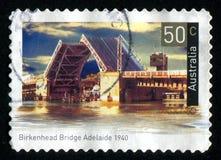 Postage stamp. AUSTRALIA - CIRCA 2004: stamp printed by Australia, shows Historic bridge, circa 2004 royalty free stock photo