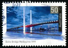 Postage stamp. AUSTRALIA - CIRCA 2004: stamp printed by Australia, shows Historic bridge, circa 2004 royalty free stock images