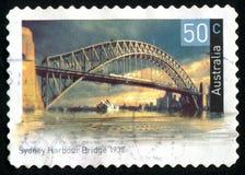 Postage stamp. AUSTRALIA - CIRCA 2004: stamp printed by Australia, shows Historic bridge, circa 2004 stock images