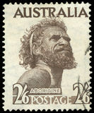 Postage stamp. Of  Australian Aborigine Stock Photo
