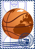 Postage stamp. Basketball Royalty Free Stock Photography