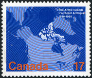 Postage stamp. Canada  The Arctic Islands Stock Photography