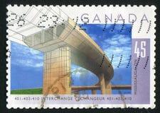 Postage stamp. CANADA - CIRCA 1995: stamp printed by Canada, shows bridge, circa 1995 royalty free stock photos
