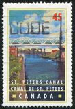 Postage stamp. CANADA - CIRCA 1998: stamp printed by Canada, shows St. Peters Canal, Nova Scotia, circa 1998 royalty free stock photos