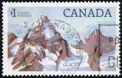 Postage stamp - Canada Glacier Royalty Free Stock Photos