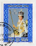 Postage Stamp Celebrating the 25th Anniversary of the Coronation Royalty Free Stock Photography
