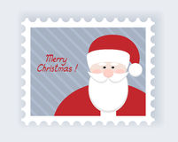 Postage stamp. Christmas post stamp with santa claus Stock Images