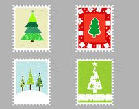 Postage stamp collection Royalty Free Stock Photo