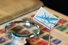 Postage Stamp Collection Stock Images