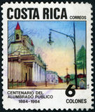 Postage stamp. Costa Rica correos stock photos