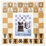 Postage stamp dedicated to Chess Royalty Free Stock Photo