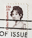 Postage Stamp dolly madison Royalty Free Stock Photography
