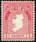 Postage stamp. EIRE - Map of Ireland Stock Photo
