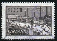 Postage stamp. FINLAND - CIRCA 1941: Hame Bridge Tampere, circa 1941 royalty free stock image