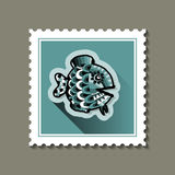 Postage stamp with a fish. Stock Images