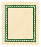 Postage stamp with frame. Isolated postage stamp, blanked for your text/art Royalty Free Stock Image