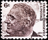 Postage stamp with Franklin Roosevelt