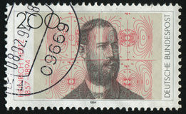 Postage stamp. GERMANY- CIRCA 1994: stamp printed by Germany, shows Heinrich Hertz Physicist, circa 1994 Royalty Free Stock Photos