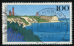 Postage stamp. GERMANY- CIRCA 1993: stamp printed by Germany, shows Rugen island, circa 1993 Royalty Free Stock Image